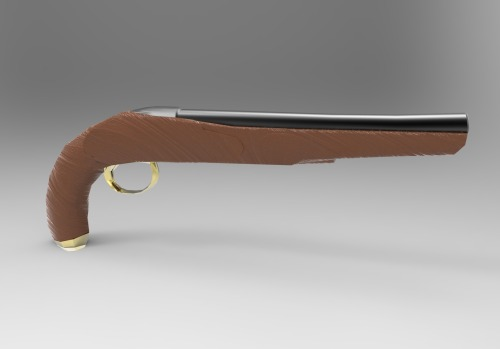 3devco:  Flintlock Day 1 Rendered with Keyshot 3 As you can see I still have a lot to do. I just wanna to check out the KS3 materials before the night ended. Stay tuned!