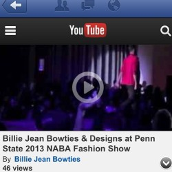Checkout @billiejeanbowties   Video on YouTube from the 2013 NABA Fashion Show 😄 #NABA #NABAFashionShow2013 #billiejeanbowties #billiejeanbowtiesanddesigns #fashionshow #mensfashion #africanfashion