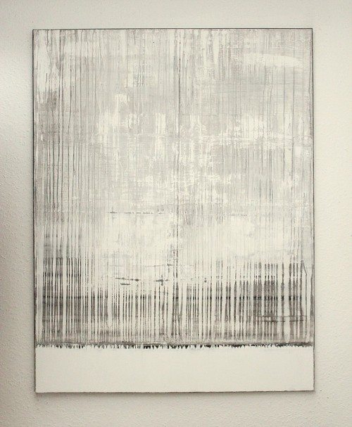 "hetart:   white grey painting 02, 51,2"" x 30,4"" (130x100cm), mixed media on canvas art by CHRISTIAN HETZEL"
