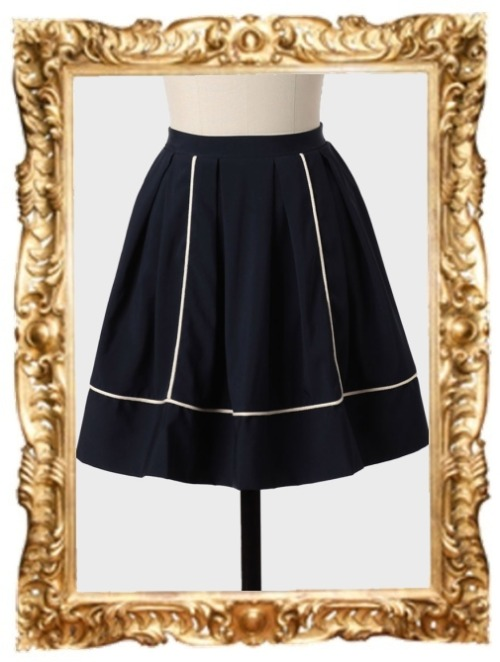 See You There High-Waisted Skirt in Navy - $42.99