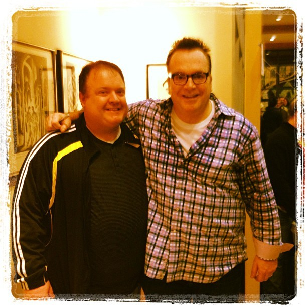 Good ole @TomArnold and @BradmanTV in the same place