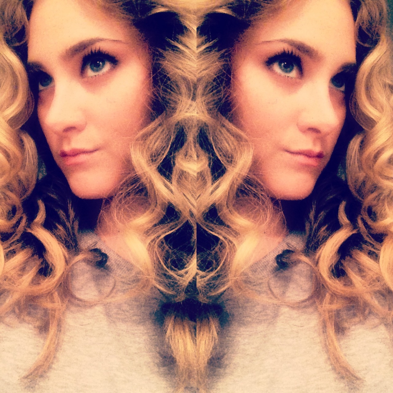 "I used a 5/8"" curling iron to get these fabulous 80's curls.  Best part—they lasted for days and went from 80's to boho!"
