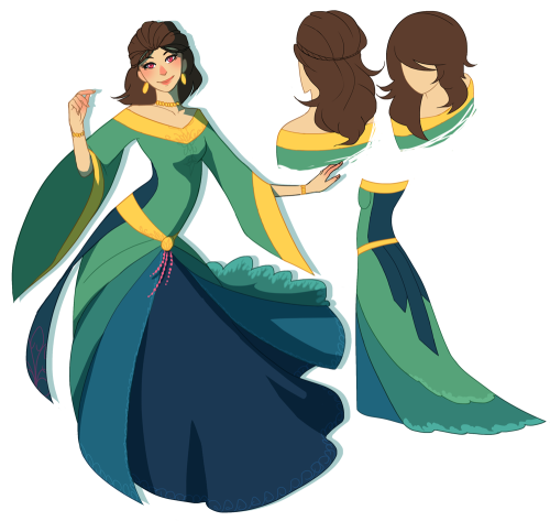 emiismadeoffart:  Final design for Toothiana! Lots of liberties taken with the Rohan fashion haha  I changed quite a few things from the original sketch, I hope that the changes make sense :')