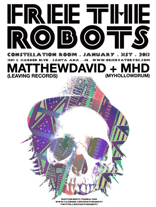 "L(OC)AL SANTA ANA SHOW: TICKETS AVAILABLE HERE Free The Robots founder (and Crosby impresario) Chris Alfaro is one of the most agile and idiosyncratic beatmakers in greater LA—he's got anything-goes and an everything-rules record collection, and his compositions come from some kind of crazy alternate world where krautrock, psychedelia, hip-hop and dub all happened at the same time in the same place. No new album out yet, but just-out single ""Ophic"" (with Feeding People's Jessie Jones singing) overlaps Portishead with Dilla and Eastern-European new-wave film and points at even greater things for FTR in 2013. He's joined at this show by friends from/members of the mighty My Hollow Drum. —Chris Ziegler"