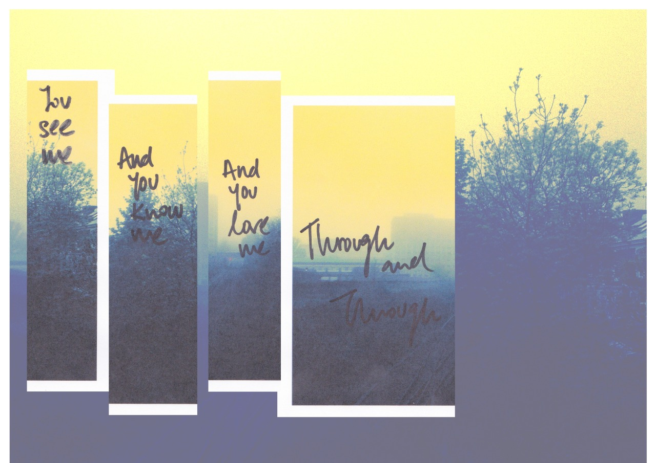 agapemoments:  These lyrics meant alot to me, especially when you feel like no one else understands you…then you remember God does :) I find that I'm safe and warm In your loving arms You see me And You know me And You love me Through and through Lyrics from my favourite worship song, 'Through and Through' by Will Reagan. http://youtu.be/5Y7h6K13z0I