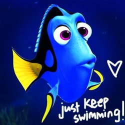#qotd Quote of the day. Just keep swimming, just keep swimming, just keep swimming…. xo Low (at CVS Pharmacy)