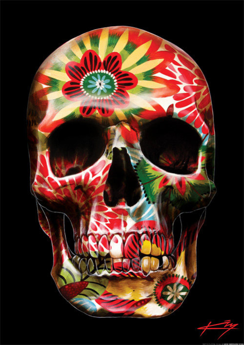 skullspiration:  12 Skull art prints by Gerrard King http://www.skullspiration.com/12-skull-art-prints-by-gerrard-king/