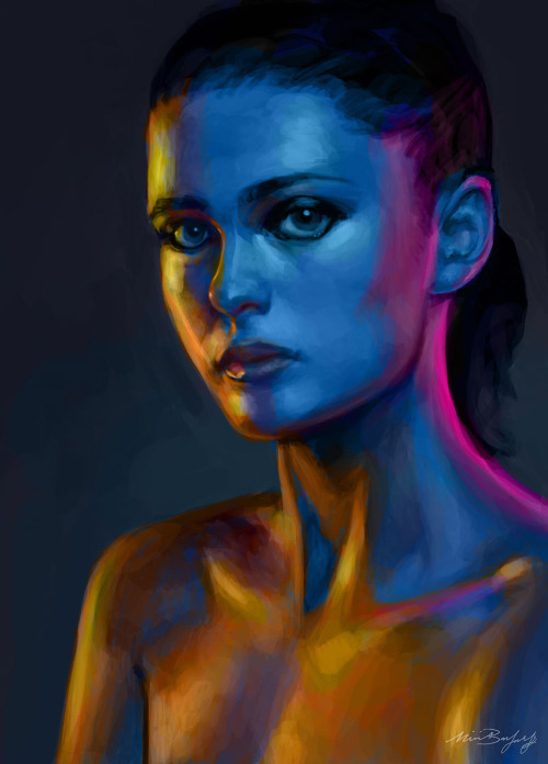 lemon-kiss:  Finished work!  Photo study for head painting