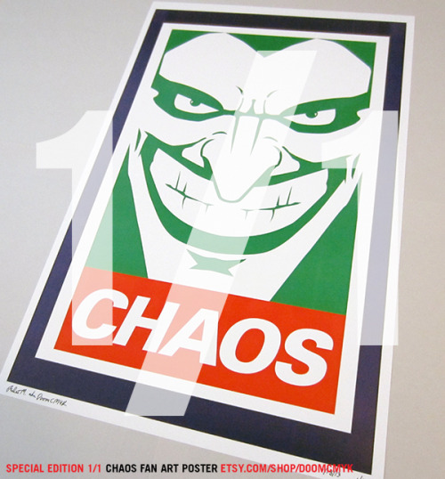 Special Edition 1 of 1, Joker Chaos Fan Art Poster: etsy.com/shop/doomcmyk