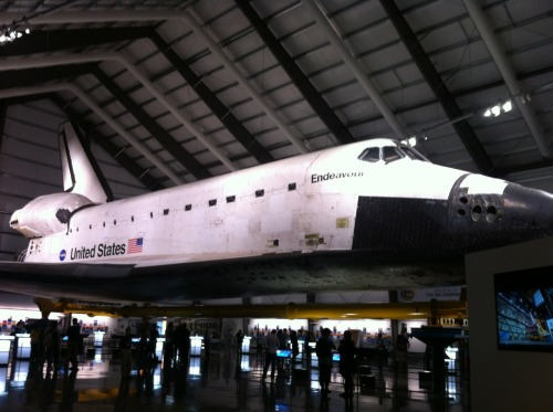 Thursday night I went and saw the space shuttle.