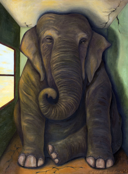 leahsaulnierpaintingmaniac:  Elephant In The Room