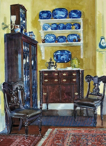 Louis Charles Vogt Blue and Gold: An Interior 1903
