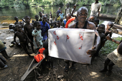 Photo: Supplies being delivered by boat to a mobile sleeping sickness program MSF ran in DRC's Bandundu Province in 2011. DRC 2011 © Robin Meldrum/ MSF. A Conversation with Sophie Delaunay, Executive Director, MSF-USA What are some priorities for MSF-USA in the coming years? We want to continue providing a critical amount of resources to the overall MSF movement, providing financial support and supporting human resources with the expertise we can offer, and in areas like communications and advocacy as well. We also want to further strengthen the medical expertise that we provide to operations. This will translate into the development of a new health information system, which will be a very big dossier. We will also continue to provide expertise in areas like antibiotic resistance and neglected tropical diseases. The ultimate goal is to improve the quality of our care and develop therapeutic or preventive approaches that are more adaptive to the needs in the field.