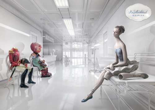 Beautifully art-directed print ad for Porzellanklinik, a traditional porcelain repair shop in Germany, by Ogilvy & Mather, Dusseldorf from 2011