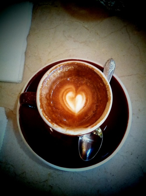Taken at Caffe Calabria (Macchiato).  From my heart to yours—TGIF!!!