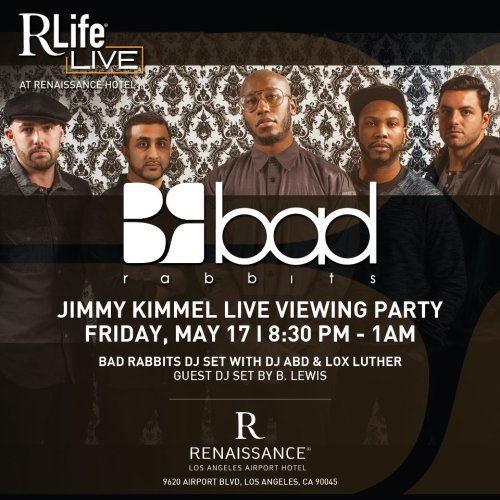 """Ill be playin some tunes at the Jimmy Kimmel after party in LA in a few weeks with the BR homies. Can't wait.."" - B.Lewis RSVP on the Facebook Event pagehttps://www.facebook.com/events/456446767766549/"