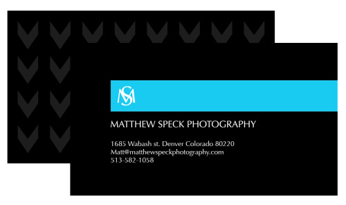 Matthew Speck photography - Business card & branding - 2013
