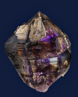 themineralogist:  Smoky amethyst crystal from Namibia