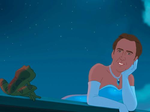 foreverdai:  Disney Princess Nicolas Cage [jenlewis]