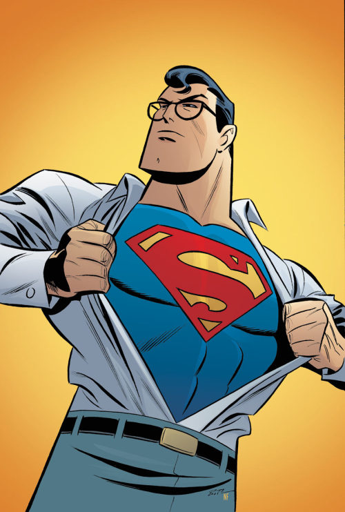 Bruce Timm's cover for Adventures of Superman #4.