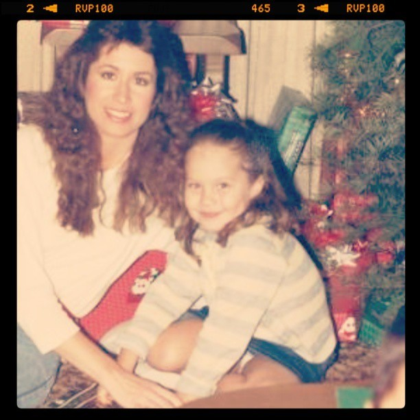 Mommy and me, Christmas '87 #happymothersday
