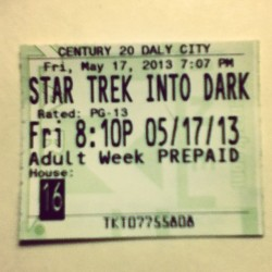 Saw Star Trek Into Darkness tonight and I'd highly recommend it! Great summer blockbuster popcorn flick. Solid start to the summer movie season with this and Iron Man 3 so far.