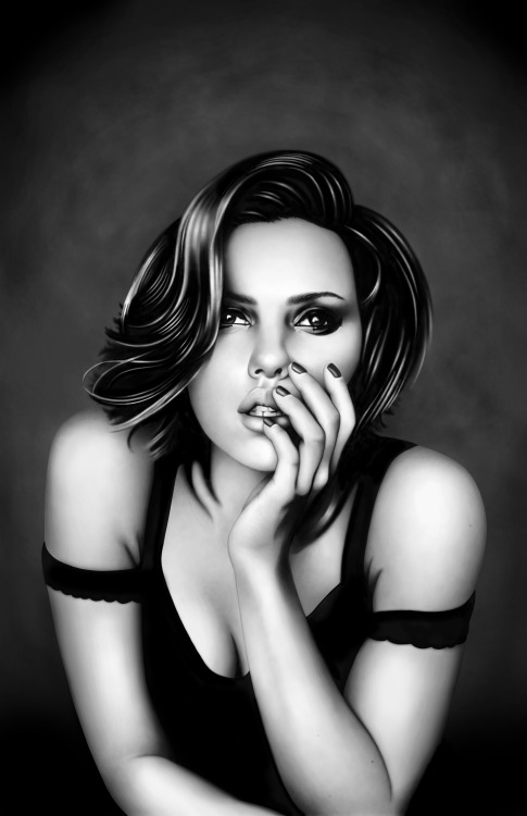 scottysevere:  Scarlett Johansson Commissioned by Anthony Kolodziej