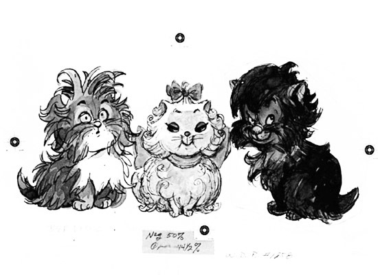 fancysomedisneymagic:  The Aristocats (1970) concept art The film is noted for being the last film project to be approved by Walt Disney himself, as he died in late 1966, before the film was released.
