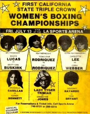newsgirlszine:  First Women's Boxing Championship, 1979.