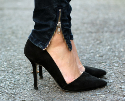 I don't like pointy shoes but these are cute.