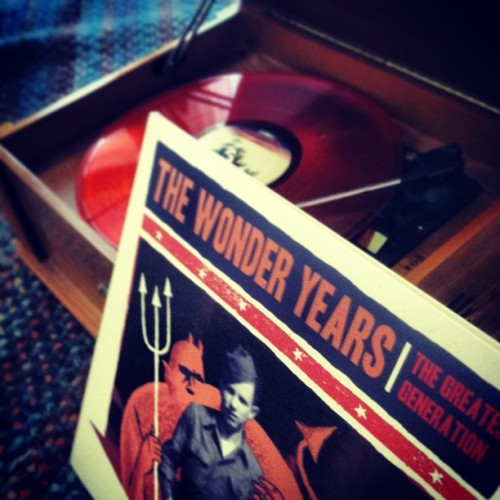 picked this up at #twyinstoretour - really digging the record!! #thewonderyears #thegreatestgeneration #twosided #record #vinyl #hankthepigeon