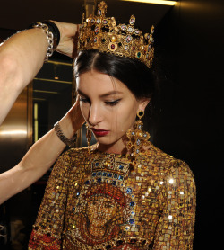 Dolce&Gabbana Winter 2014 Womens fashion show - Backstage