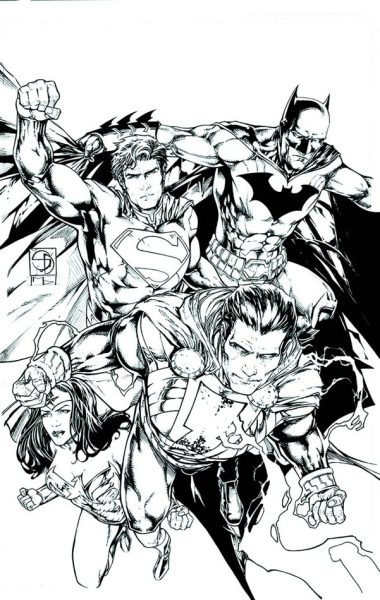 DC has released a black and white version Shane Davis' varient cover for Justice League #19 featuring Shazam!