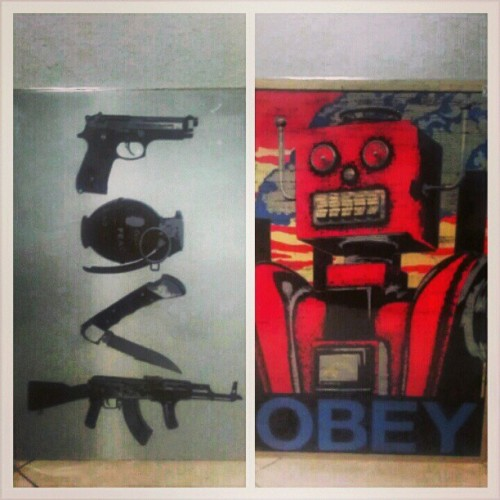 My new posters! #Obey #Love #Decorations #Guns #Robot #Art