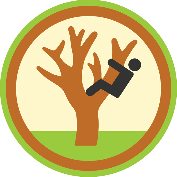 lifescouts:  Lifescouts: Tree-Climbing Badge If you have this badge, reblog it and share your story! Look through the notes to read other people's stories. Click here to buy this badge physically (ships worldwide). Lifescouts is a badge-collecting community of people who share their real-world experiences.  I've climbed trees. I used to climb in the dogwood in our front yard when I was little. I used to climb this one tree in my friend's back yard and we'd hop over the wall into his neighbor's property.I'm not, like, great or anything at climbing trees, but if this badge is only to say that I have climbed a tree, then yes- I have climbed a tree.