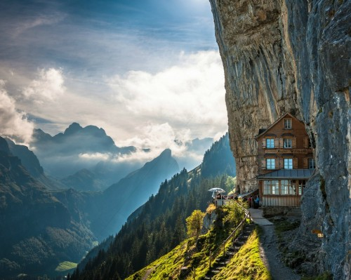 myidealhome:  [travel tuesday] stunning Aescher Hotel in Switzerland