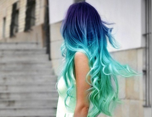 createthislookforless:  Awesome color!  My vision of mermaid hair