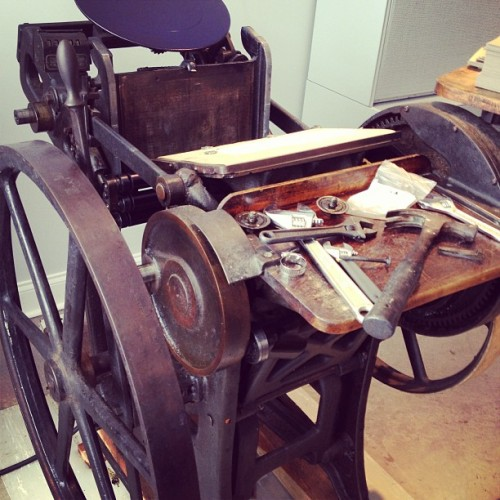 At the new @SaplingPress shop doing some maintenance on the C&P.