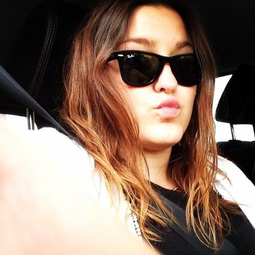 Bored in the car! 🙆📱🚗#german #girl #cardrive #sunglasses #rayban #wayfarer #selfie #selfietime #selfienation #sotd #potd #kiss #brunette #undonehair #directioner #tags4likes #tagsforlikes #follow #summer #eye #boring #iphone #picoftheday