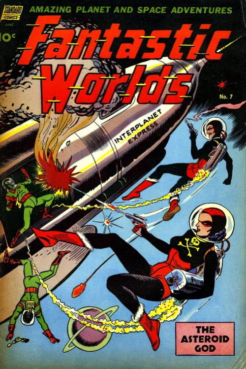 Fantastic Worlds (No.7, 1953)Cover Art by John Celardo