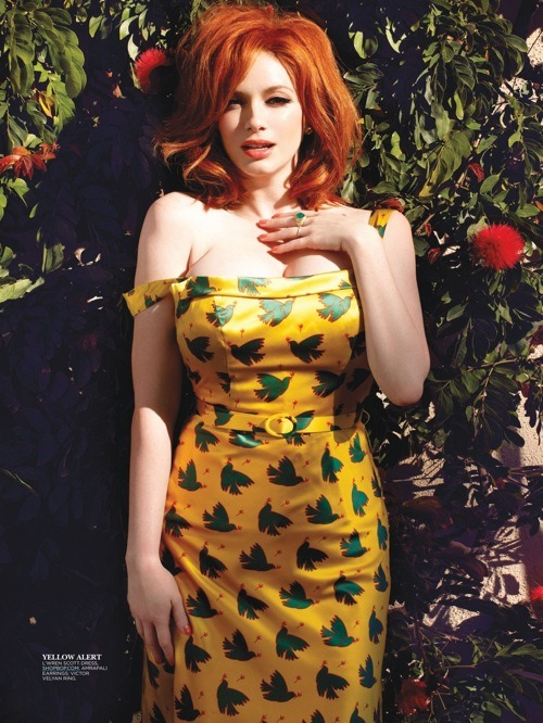 Christina Hendricks - Flare by Max Abadian, May 2013
