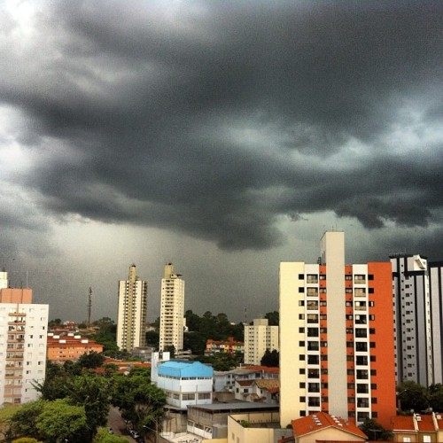 There's a storm coming… #summer #brazil #SP #lotsofwater