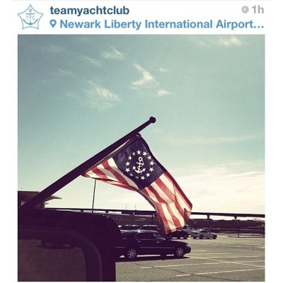 @teamyachtclub repost: @m_demartino arrives @ Newark & immediately flies da #TYC colors for @rapha_n_america's NE #RGR. So #Pro. #TYCRGR13 #Cycling #TYC #BikeNYC #BikeATX  #rapha #grimpeur #specialtycoffee #rideyourbike #drinkgreatcoffee #gnar #squaready