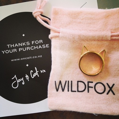 thanks for my new baby @onceit and @wildfox 😍🐱 #onceit #wildfox #wildfoxcouture #jewelry #ring #catears #cat #catladyforever #meow