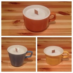 Soy wax candles with hints of lavender, hand poured into antique coffee mugs. $12 each. Or sold as a set of 3 for $32. Email to place an order:  thecuttingboardproject@gmail.com