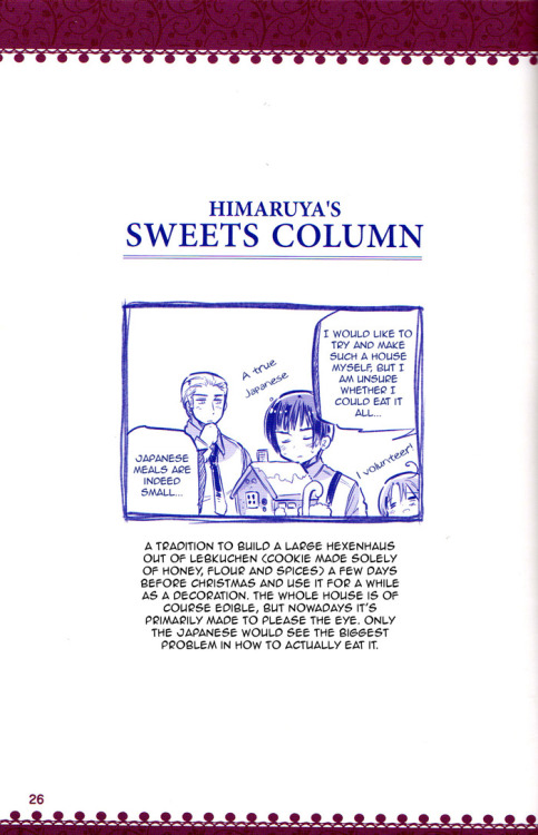 aphgerrmanydoitsu:  Himaruya's Sweets Column
