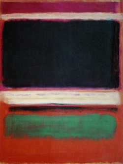 cavetocanvas:  Mark Rothko, Magenta, Black, Green on Orange, 1949