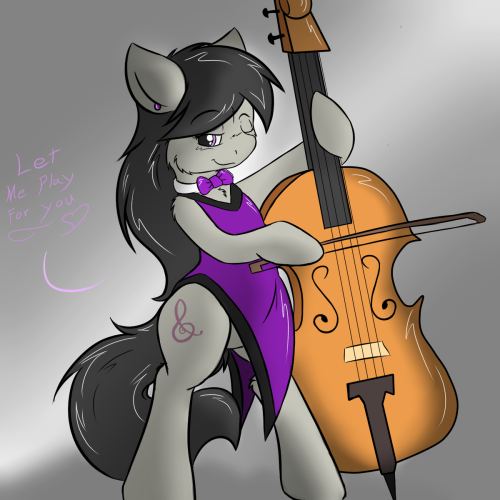 plushtail:  Let me play for you~ <3 Octavia stands ready to play just for you~ Will you let her? I'm really proud of this one. Something Ive wanted to do since I got into MLP. I addore Octavias look. so here she is~  I didnt go over board with the shading this time. Just a simple splash for lighting to make the image stand out a tad more. I hope you all enjoy her <3 Drop a comment or a + like if you enjoy the image ^.^ Thank you <3  DARN YOU SABER HOW DID YOU BEAT ME?!