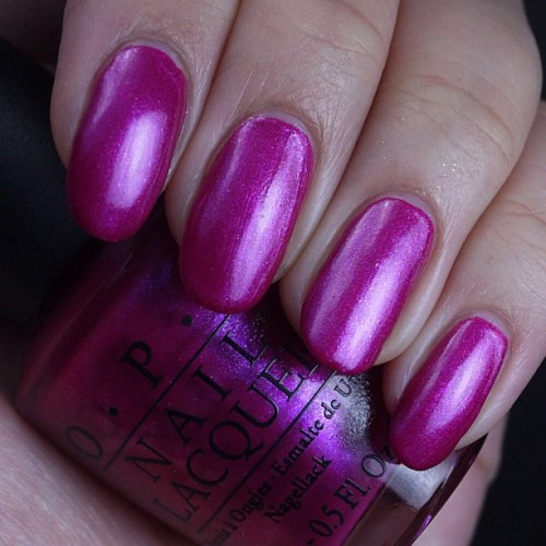 clawofcthulhu:  Back at work. Alive again! Here's OPI Flashbulb Fuchsia up on the blog today. #nails #nailpolish #barbiefingers #opi #opiflashbulbfuchsia http://instagr.am/p/XF7NJBs1V6/