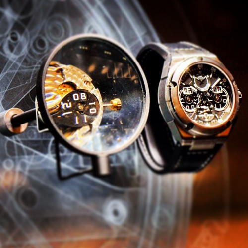 #IWC #Ingenieur Perpetual Calendar Digital Date-Month - Reference 3792 - #watches #watch #sihh #instawatches (SIHH 2013)